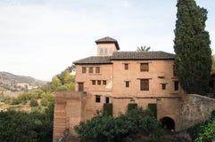 Panorama of Alhambra castle in granada Stock Image
