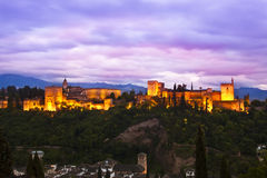 Panorama of Alhambra, Granada, Spain Stock Image