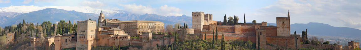 Panorama of the Alhambra in Granada, Spain Stock Photo