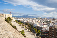 Panorama of Alicante city Royalty Free Stock Photos