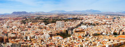 Panorama of Alicante cityscape from Castle Stock Photos