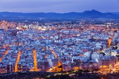 Panorama of Alicante Royalty Free Stock Images