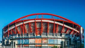 Panorama all'aperto di Stadio da Luz, in Stadium of Light inglese, ospitare entrambe sport Lisbona e Benfica Lo stadio era fotografie stock