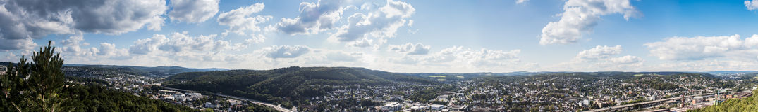 Panorama Allemagne de ville de Siegen Images libres de droits