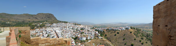 Panorama of Alora Andalucia Spain. Royalty Free Stock Photos