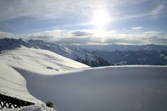 Panorama of the Alpes Stock Photos