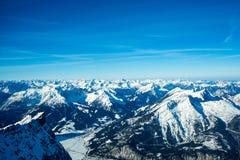 Panorama alpestre de l'hiver Images libres de droits