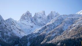 Panorama alpestre Nevado fotos de archivo