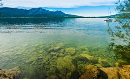 Panorama alpine lake Royalty Free Stock Photos