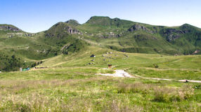 Panorama on alpine plateau Royalty Free Stock Photos