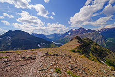 Panorama from an alpine trail Stock Image