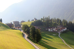 Panorama with alpine village Bichl (muncipal Pragraten) and mountains, Austria Royalty Free Stock Images