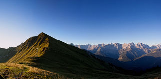 Panorama alpino Fotografie Stock