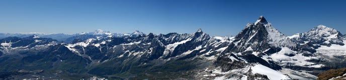 Panorama alpino Fotografia Stock Libera da Diritti