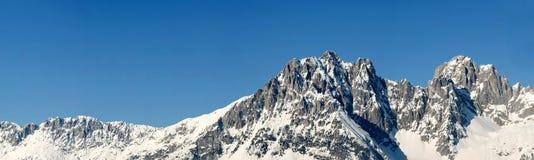 Panorama alpino con spazio per la copia Fotografia Stock