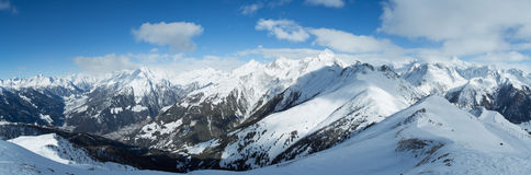 Panorama alpino de Hohe Tauern imagenes de archivo