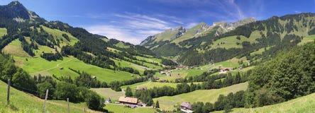 Panorama alpino della montagna di estate Fotografia Stock