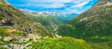 Panorama alpino di estate Immagine Stock Libera da Diritti