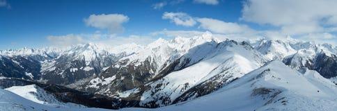 Panorama alpino di Hohe Tauern Immagini Stock