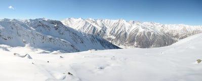 Panorama alpino di inverno maestoso di XL Fotografia Stock Libera da Diritti