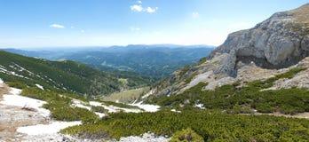 Panorama alpino di paesaggio Immagine Stock