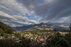 Panorama alpino in Svizzera Fotografie Stock