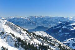 Panorama alpino V Fotografie Stock Libere da Diritti