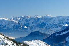 Panorama alpino VI Fotografie Stock Libere da Diritti