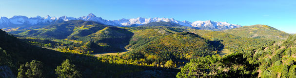 Panorama- alpint landskap av Colorado Royaltyfri Foto