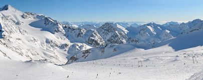 Panorama of the Alps Royalty Free Stock Image