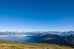 Panorama of the alps Royalty Free Stock Images