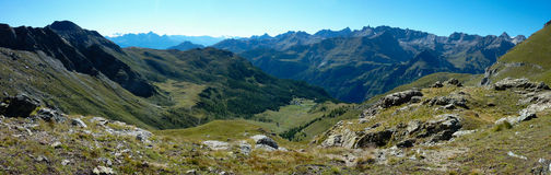 Panorama of the Alps Stock Photos