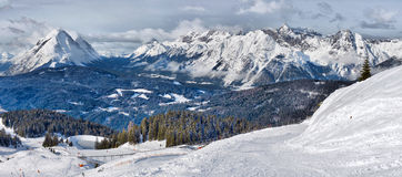 Panorama of the Alps Royalty Free Stock Photo