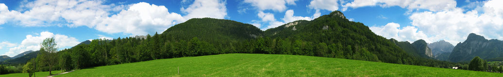 Panorama from alps Stock Image