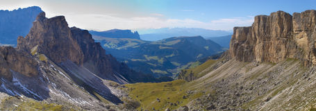 Panorama at alps dolomites Royalty Free Stock Photos