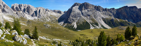 Panorama of alps dolomites Stock Photography