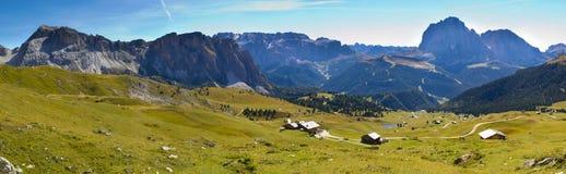 Panorama of alps dolomites Stock Photos
