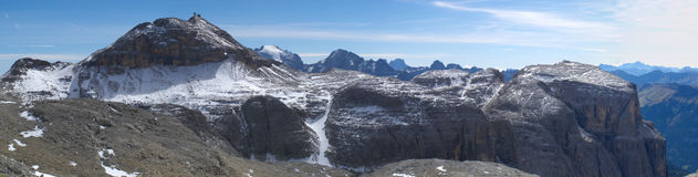 Panorama of alps dolomites Stock Image