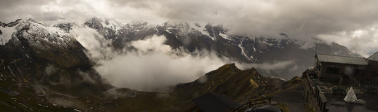 Panorama of the Alps in Grossglockner stock image