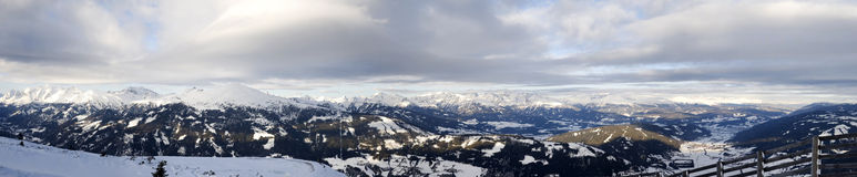 Panorama Alps from Katschberg Stock Photo