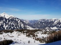 Panorama of the Alps stock image