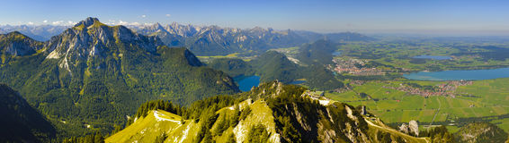 Panorama of alps mountains in bavaria Stock Images