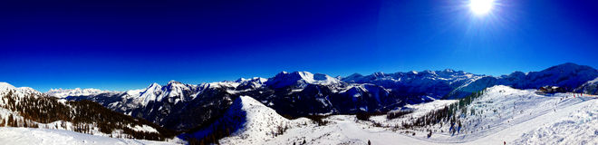 Panorama of Alps Mountains Royalty Free Stock Photography