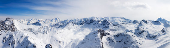 Panorama of the Alps Royalty Free Stock Photography