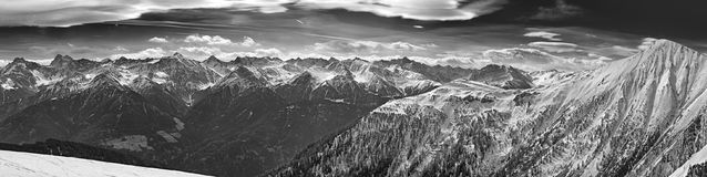 Panorama of the Alps in Tyrol Stock Image