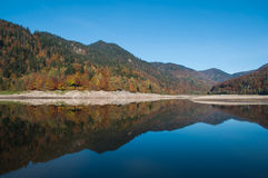 Panorama of alsatian Lake of  Kruth Stock Photo