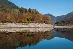 Panorama of alsatian Lake of  Kruth Royalty Free Stock Photo