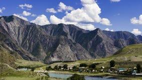 Panorama Altai góry Zdjęcie Stock