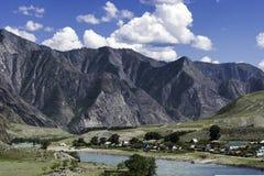 Panorama Altai góry Zdjęcia Stock