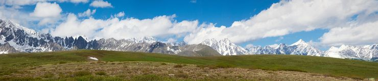 Panorama of the Altai Mountains Royalty Free Stock Images